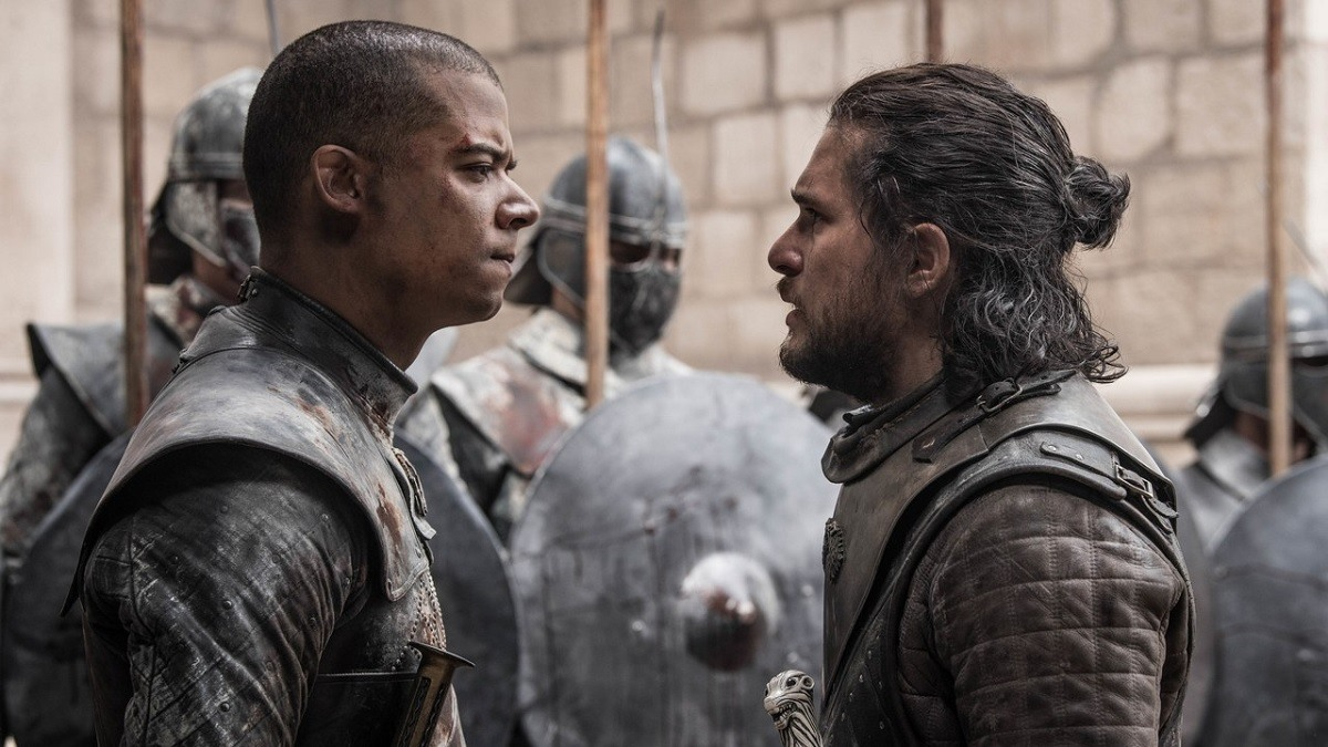 game of thrones jon vs greyworm