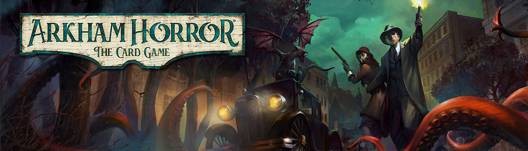 Arkham Horror is a LCG produced by Fantasy Fligh Games based on the works of H.P. Lovecraft